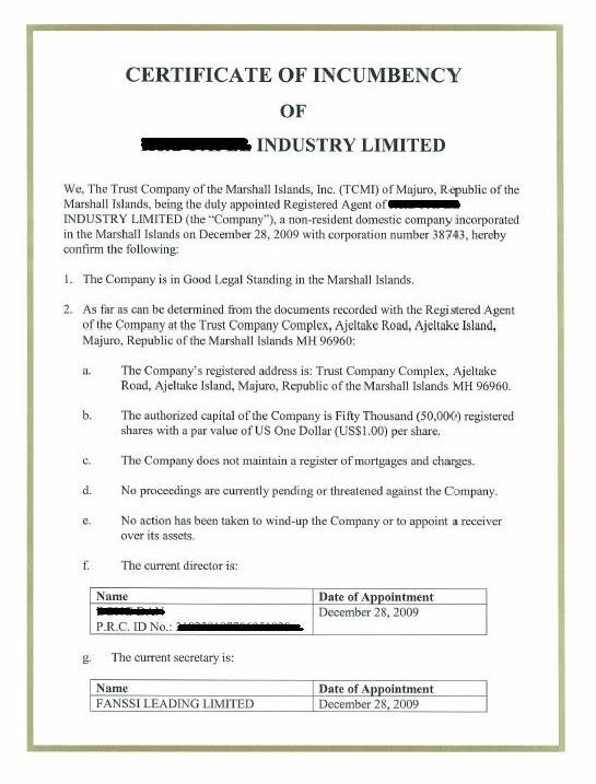 Secretary Certificate Template